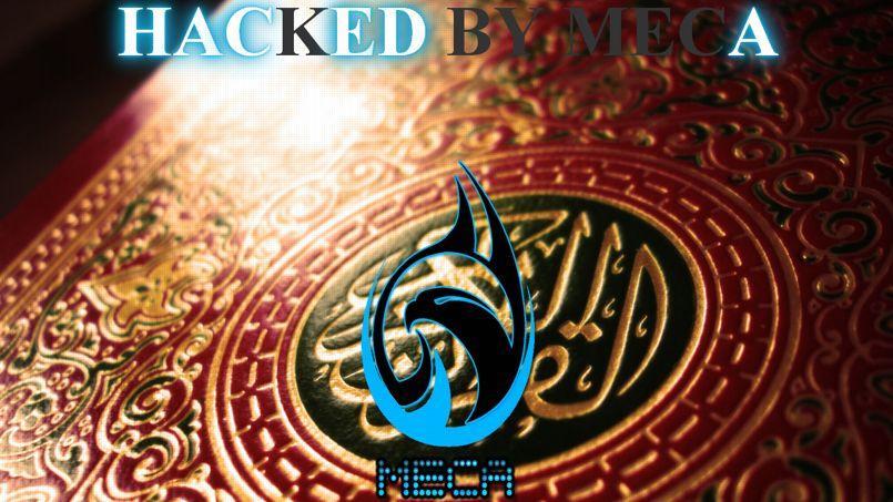 La page d'accueil d'une entreprise française piratée par le groupe MECA. (DR)