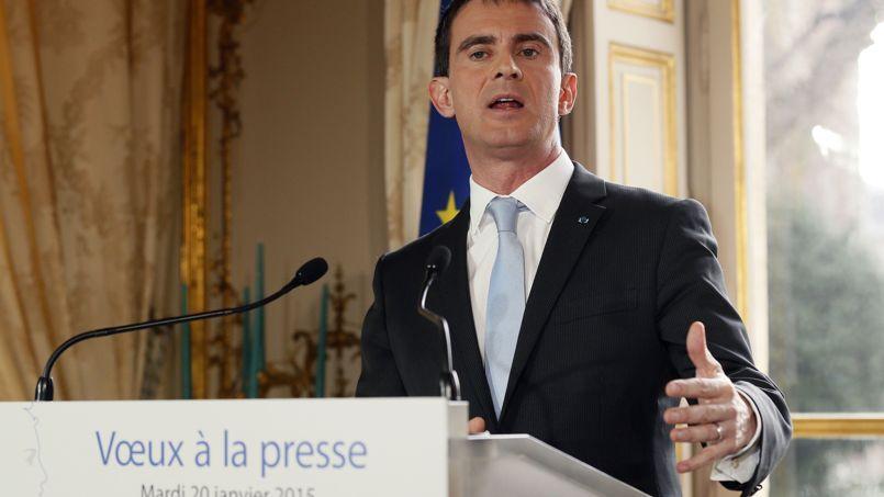 Le Premier ministre, Manuel Valls, a adressé ses vœux à la presse, mardi, depuis Matignon