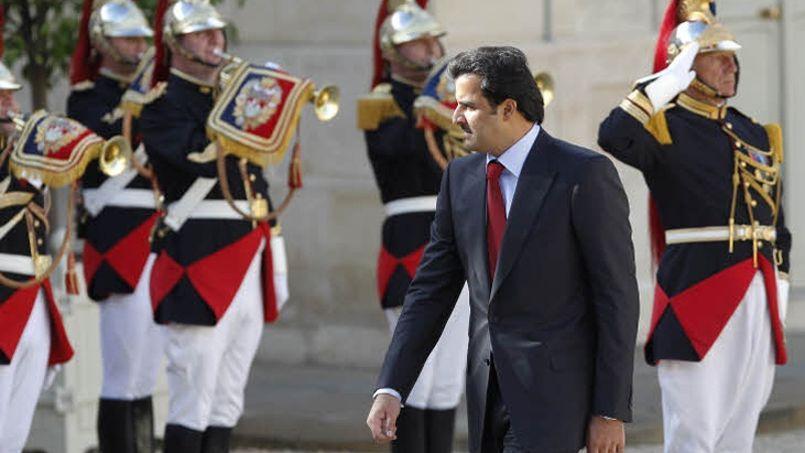 L'émir du Qatar, lors d'une visite officielle en France, en juin 2014