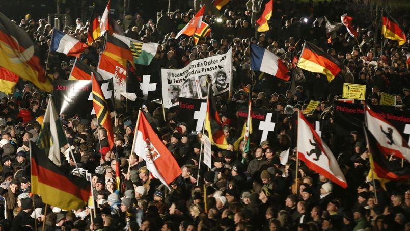 La manifestation Pediga à Dresde, le 12 janvier.