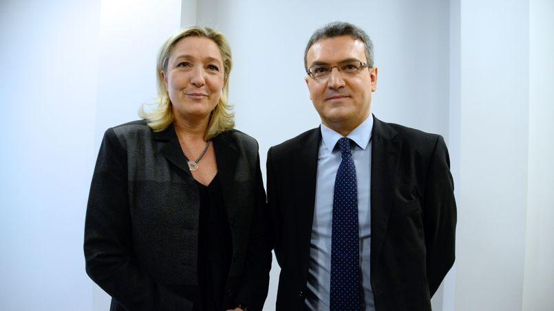 Marine Le Pen et Aymeric Chauprade en janvier 2014.