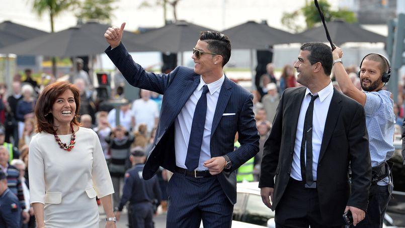 Cristiano Ronaldo lors de l'inauguration de sa statue sur l'île de Madère.
