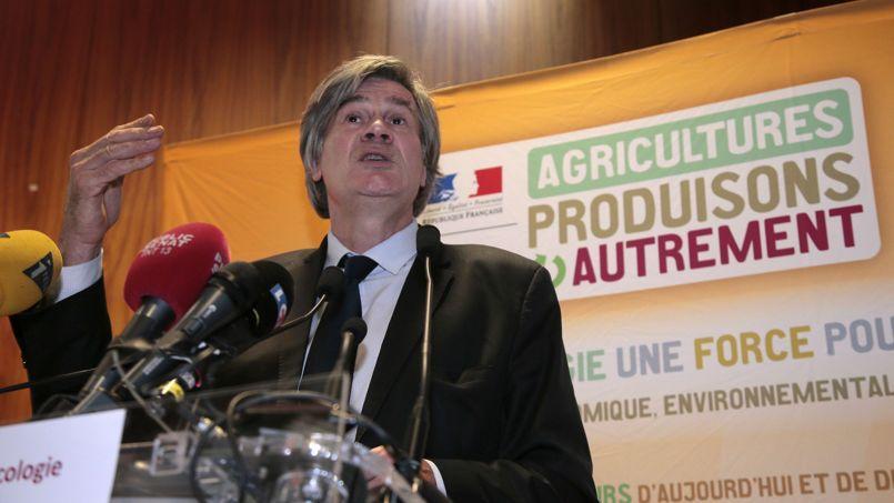 Le ministre de l'Agriculture Stéphane Le Foll, vendredi lors de la présentation de son plan de réduction de l'usage des produits phytosanitaires.