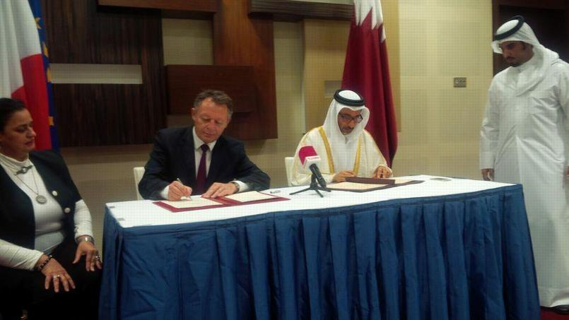 Thierry Braillard et son homologue qatari (Photo Twitter)