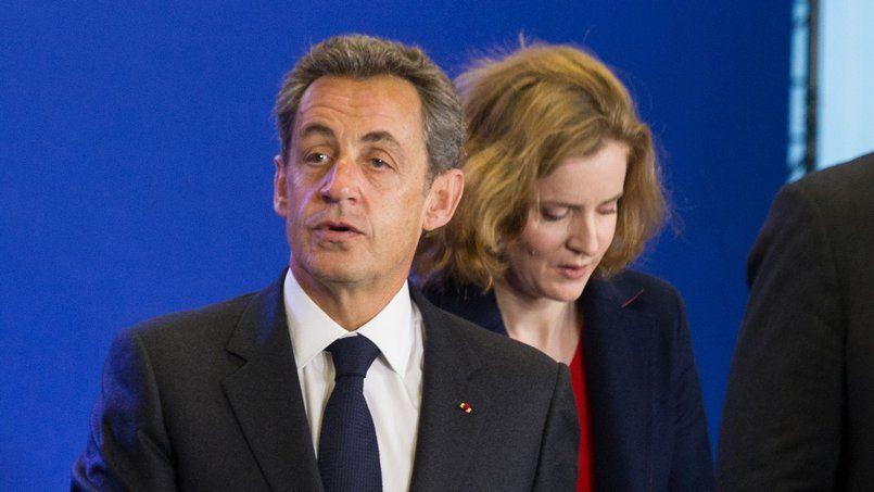 Nicolas Sarkozy et Nathalie Kosciusko-Morizet,le 17 janvier, au siège de l'UMP.