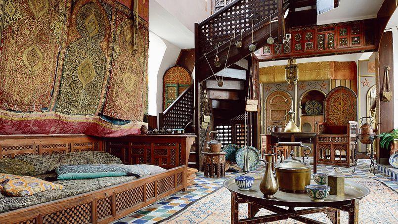 Au cœur du château, le grand salon marocain attirent l'œil des visiteurs.