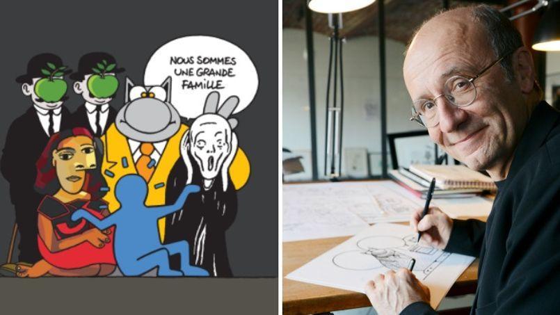 L'œuvre du dessinateur belge intitulée L'Union fait la force est partie pour une coquette somme dimanche à la vente de la 60e foire des antiquaires à Bruxelles.
