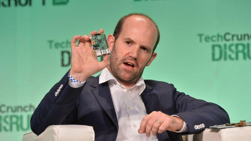 Eben Upton, fondateur de la Fondation Raspberry Pi au TechCrunch Disrupt en octobre dernier. Photo TechCrunch (recadrée) via Flickr  Licence CC