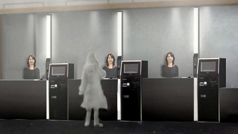 Trois robots à visage humain accueilleront les clients dans cet hôtel d'un nouveau genre - Crédits Photo: CNN