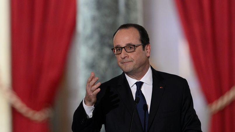 François Hollande, jeudi dernier, lors de sa conférence de presse à l'Elysée