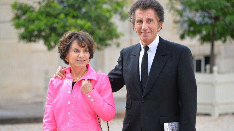 Monique et Jack Lang, à l'Elysée, lors d'une réception