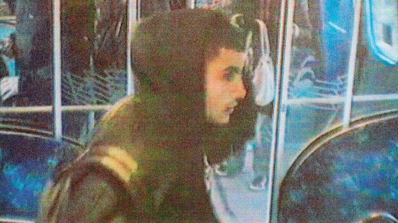 Capture vidéo d'Omar el-Hussein dans une rame du métro de Copenhague, le 22 novembre 2013.