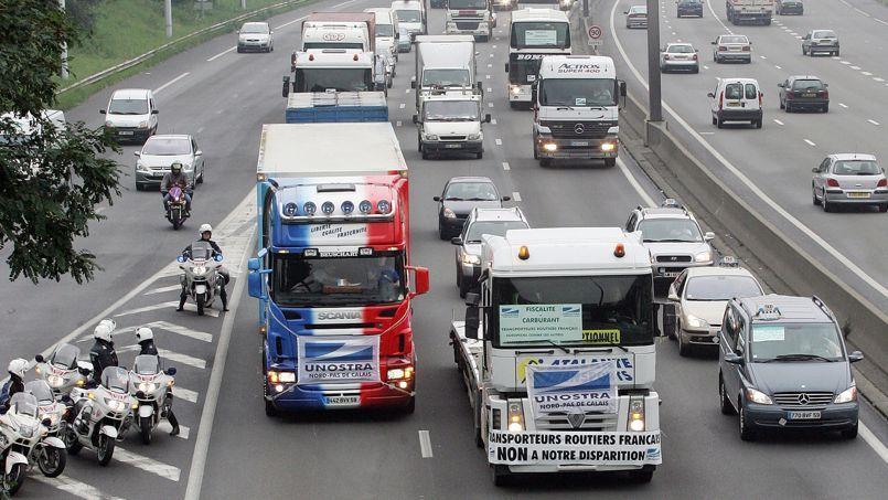 Le smic bientôt imposé aux routiers étrangers circulant en France