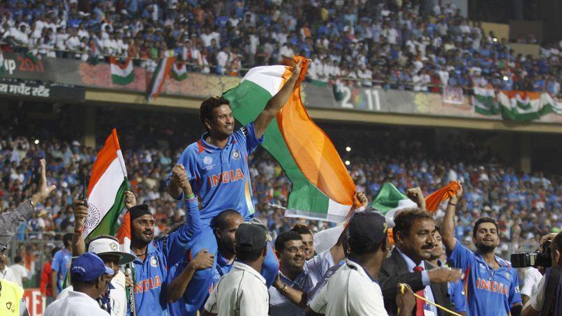 L'Inde vainqueur de la coupe du monde de cricket en 2011.