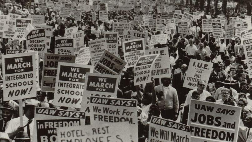 Marche pour les droits civiques des noirs américains le 28 août 1963 à Washington.