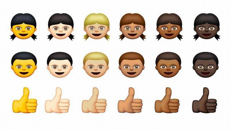Apple diversifie ses emojis pour représenter toutes les couleurs de peau
