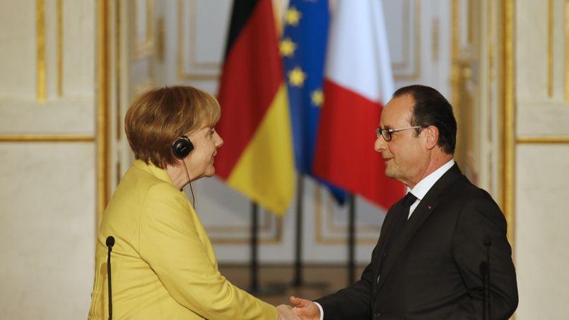 Angela Merkel et François Hollande, le 20 février à Paris.