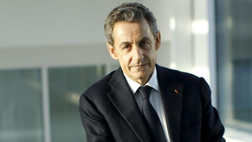 Nicolas Sarkozy, président de l'UMP, vendredi, au siège du parti, à Paris.