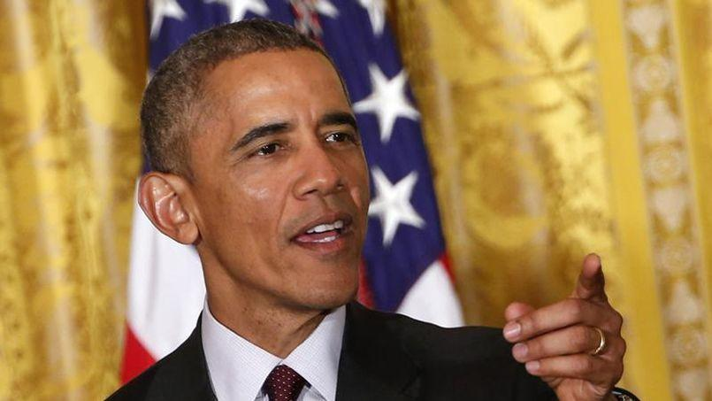 Barack Obama lors de la célébration du mois de l'histoire afro-américaine à la Maison-Blanche.