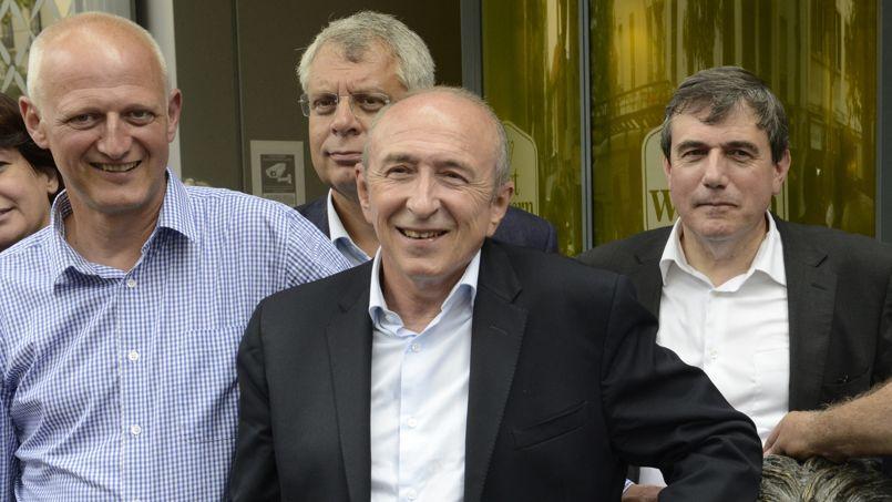 Christophe Caresche (à gauche) et Gérard Collomb (au centre)