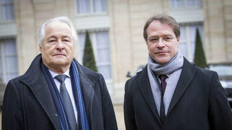 François Asselin (à droite) a remplacé Jean-François Roubaud à la tête de la CGPME le 21 janvier dernier (François BOUCHON/ Le Figaro).