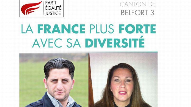 Affiche de campagne du Parti égalité- Justice
