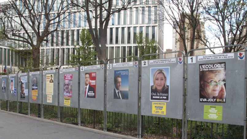 Les candidats du premier tour des élections présidentielles de 2012.
