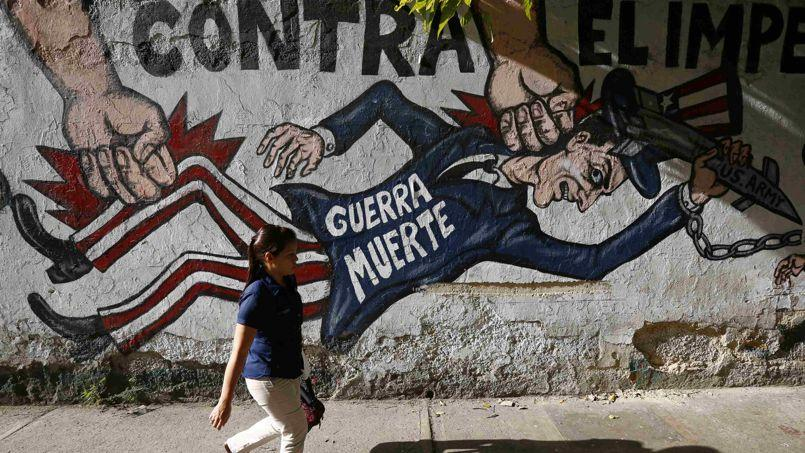Une fresque à Caracas, début mars.