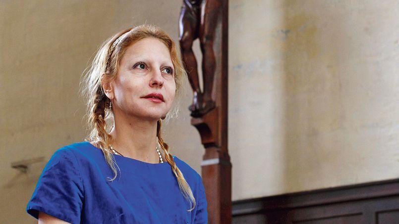 Véronique Lévy, le 6 mars, dans l'église Saint-Gervais, à Paris.