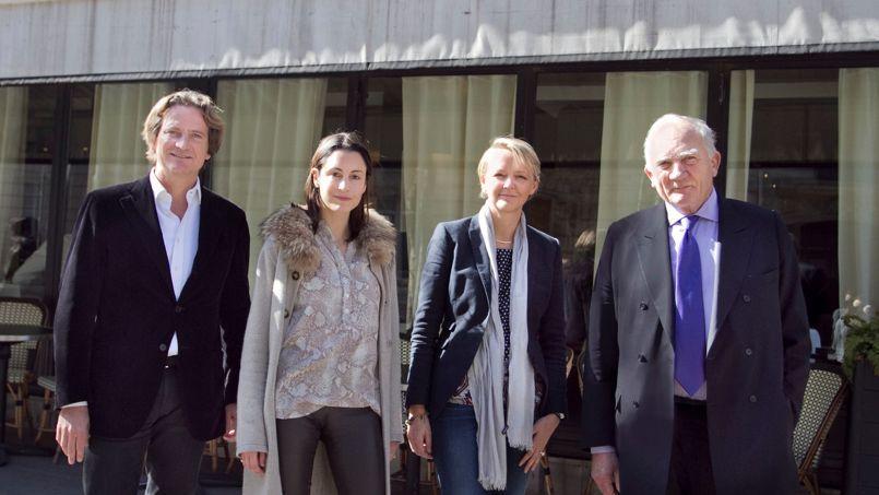 De gauche à droite, Charles Beigbeder, Julie Grziani, Anne Lorne et Charles Millon. Crédits photo: Emilie Buzyn