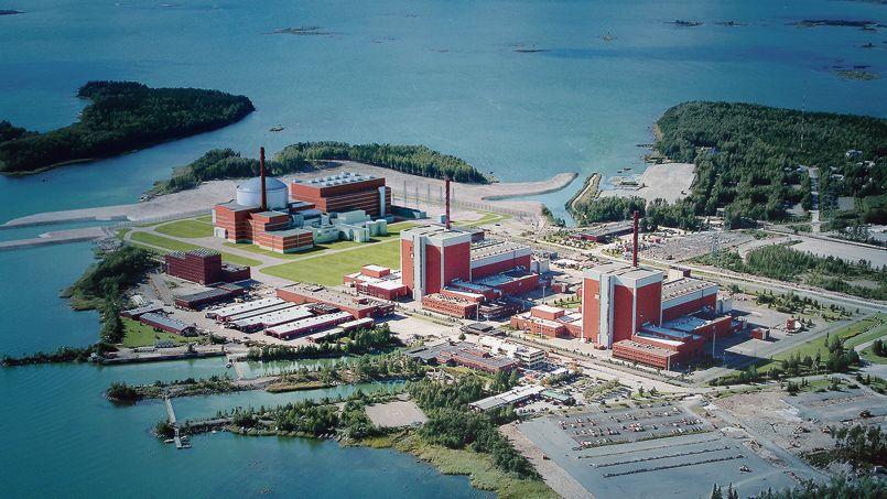 Le chantier de l'EPR d'Olkiluoto en Finlande.