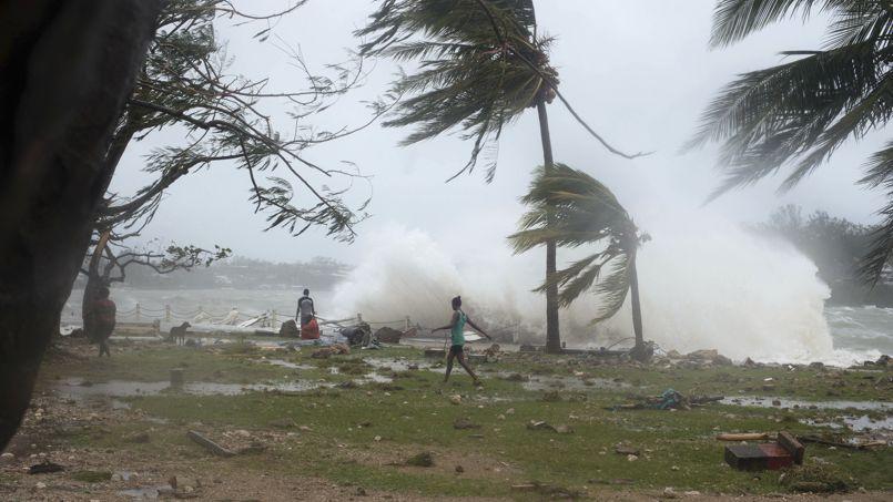 Le cyclone Pam, samedi à Vanuatu.