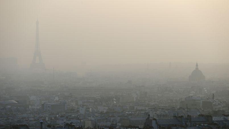 Paris lors de la précédente pollution aux particules en mars 2014.