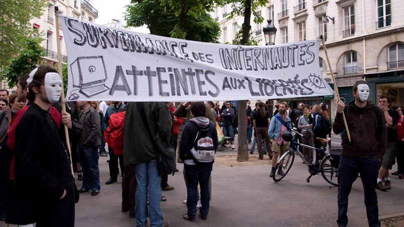 Une manifestation contre Hadopi, en 2009. (Source: Flickr/CC/Richard Ying)