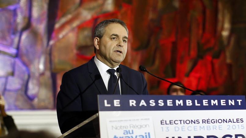 Xavier Bertrand, dimanche 13 décembre, à l'annonce de sa victoire aux élections régionales en Nord-Pas de Calais-Picardie.