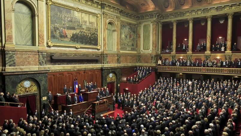Les parlementaires réunis en Congrès, après les attentats de novembre 2015.