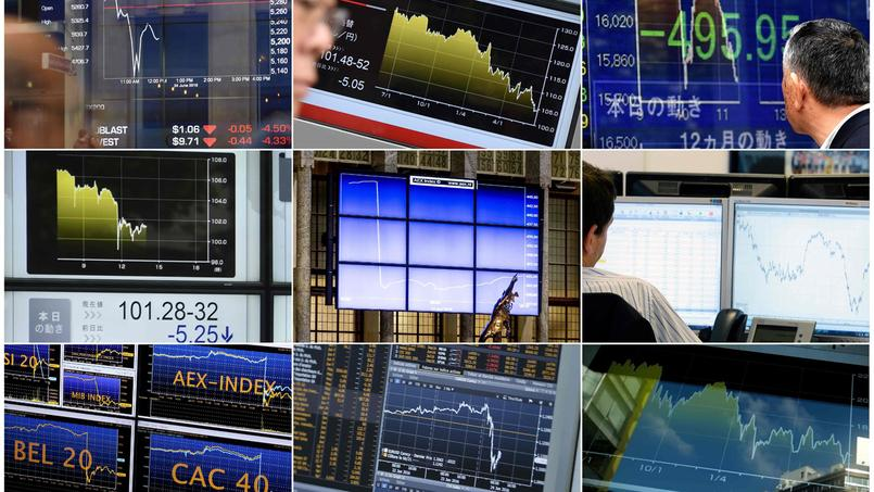 La chute boursière est comparable à celle du jour de la faillite de Lehman Brothers.