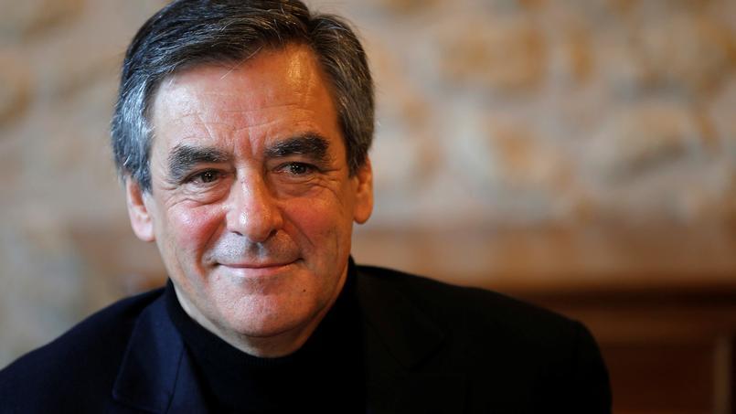 François Fillon à Chantenay-Villedieu (Sarthe), jeudi.