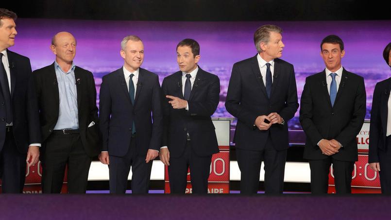 Les sept candidats de la primaire à gauche.