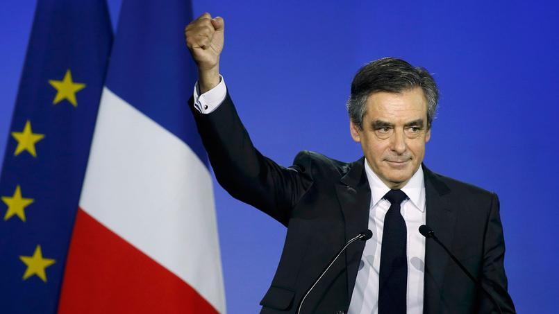 François Fillon en meeting à Paris, porte de la Villette, ce dimanche 29 janvier.