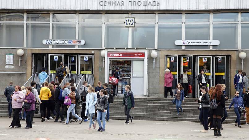 L'entrée de la station Sennaya ploschad à Saint-Saint-Pétersbourg