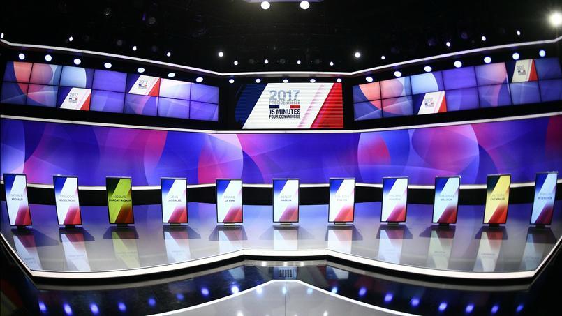 Le plateau de l'émission politique
