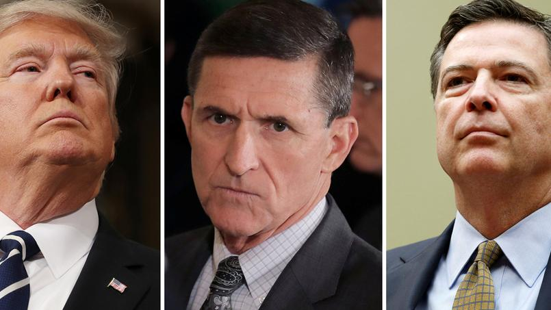 Donald Trump, Michael Flynn et  James Comey.