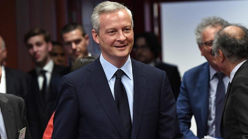 Bruno Le Maire à Bruxelles, lors de l'Eurogroupe, le 22 mai.
