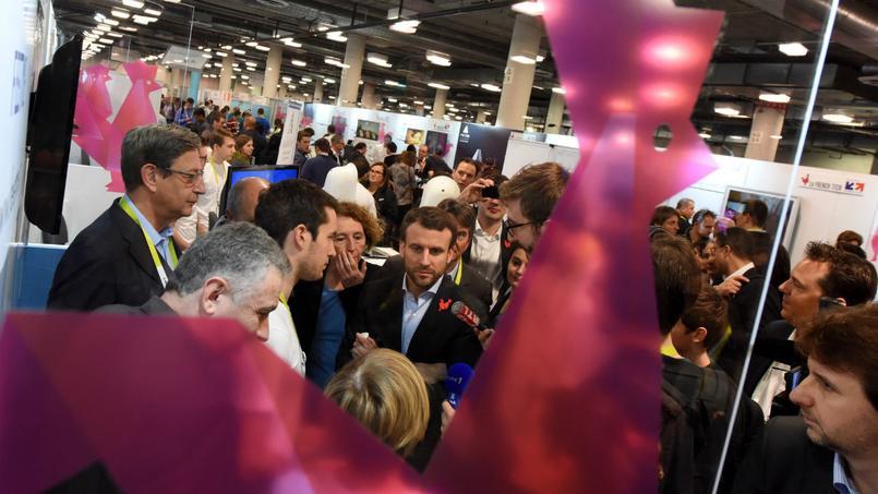 Emmanuel Macron à Las Vegas en janvier 2016.