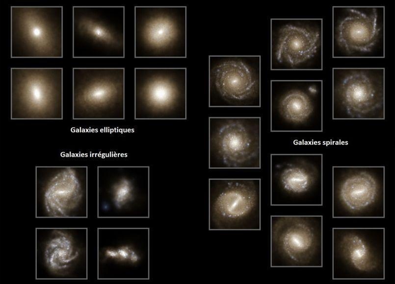 Différentes galaxies simulées par Ilustris.