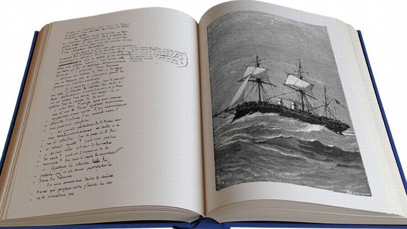 Gravures grand format et manuscrit original pourune immersion dans l'œuvre de Jules Verne.