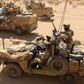Dans chaque colonne, une douzaine de Français des forces spéciales accompagnent les Tchadiens.
