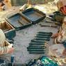 Les munitions découvertes pendant l'opération Panthère IV sont soigneusement examinées par les forces spéciales (photo récupérée auprès de l'armée tchadienne).