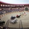 Course de quadriges dans l'enceinte du stadium gallo romain . Crédit photo: Pierre Terdjman/Cosmos pour le Figaro Magazine